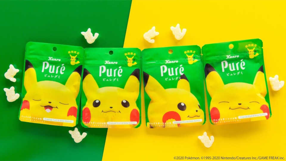 Pikachu gummy packaging from Kanro