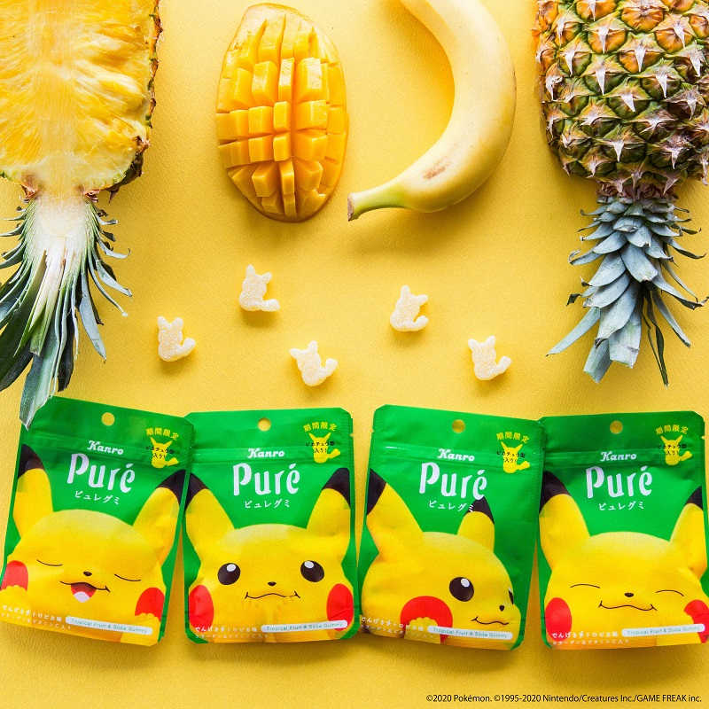 Pikachu Gummy Flavors from Kanro
